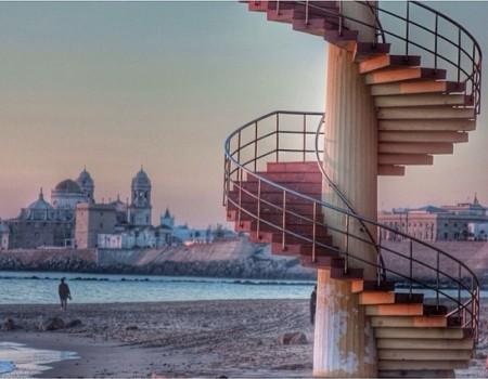 Escaleras en Cadiz
